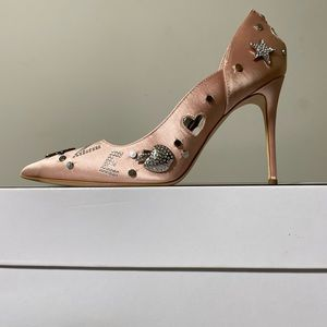 Guess Belle Heel Pink Multi Satin (Size 9)